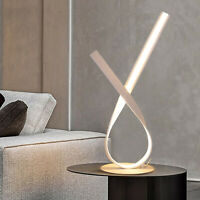 Twisted LED Table Lamp Modern Night Light Unique LED Strip Lighting Bedside Lamp