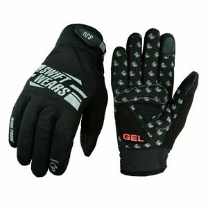 Cycling Gloves Windproof Gel Padded Touchscreen Full Finger winter Gloves Lined