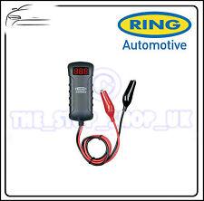 Anillo Doble 12v Y 24v Voltímetro Digital batería de coche Tester Cocodrilo Clips rba4
