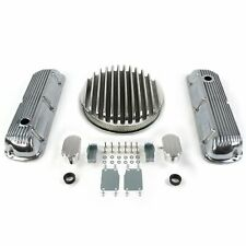 SBF 14 Deep Round/Finned Engine Dress Up kitw/ Breathers (PCV) 289-351 hot rod