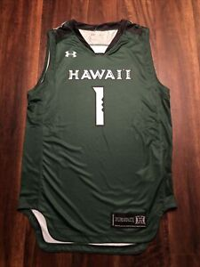 New Under Armour Mens Hawaii Rainbow Warriors Basketball Jersey Size Small Green