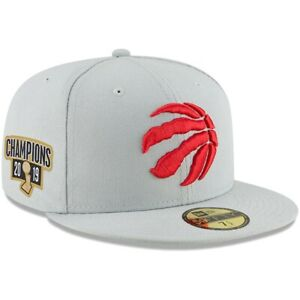 New Era Gray Toronto Raptors 2019 NBA Finals Champions 59FIFTY Fitted Hat 7 1/2