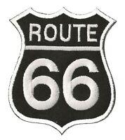 Patche écusson Route 66 noir moto motard thermocollant transfert patch