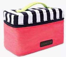 Victoria's Secret Lingerie Train Case Travel Bag Bra Panties pink /striped top