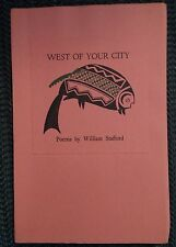 West of Your City (With Jacket) William Stafford Talisman Press 1960 1st TP