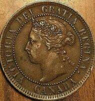 1893 CANADA LARGE CENT COIN LARGE 1 CENT PENNY - Nicer example!