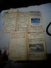 Indicateur Réseau d Autocar Car PULLMANN VICHY Guide Excursion TOURISME 1934