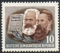 East Germany 1953 (DDR) Karl Marx 10 Pfg MINT Lightly Hinged Stamp XF MLH