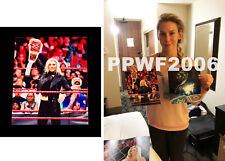 WWE CHARLOTTE FLAIR HAND SIGNED 8X10 AUTOGRAPHED PHOTO WITH PIC PROOF & COA 13