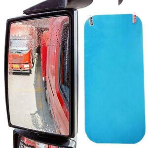 2x Rainproof Anti Fog Film Car SUV Truck RV Rearview Side Mirror 350*160mm