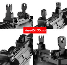 Metal Flip Up Front Rear QD Attach Floding Backup BUIS Iron Sight Set For Rifle