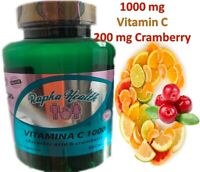 1 Pure Vitamin C 1,000MG Support Healthy Immune System, AntioxidanT + Cramberry