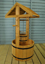 Selections Large Wooden Wishing Well Garden Planter
