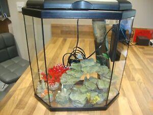 Ciano 25 litre Hexagonal Aquarium Fish Tank and accessories L@@k