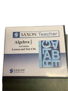 Saxon Teacher Algebra 1/2 Lesson And Test Cd's Complete Set Used