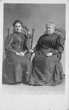 1920s RPPC Real Photo Postcard Mother and Daughter in Fancy Dress