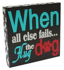 """Sign """"Hug The Dog"""" 24cm Pets Home Decor"""