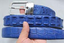 Unjointed - Blue Genuine Alligator CROCODILE Belt Skin Leather Men's