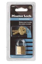 Master Lock  3/4 in. Brass  Padlock