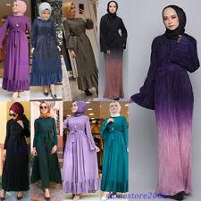 Abaya Kaftan Dubai Party Gown Muslim Women Pleated Long Maxi Dress Jilbab Caftan