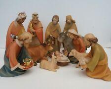 In legno intagliati a mano italiano natività 16 cm Set 12 PEZZI