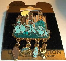 WDW Disney Gold Card  Attraction Charms Haunted Mansion Dangle LE 1500 Pin.