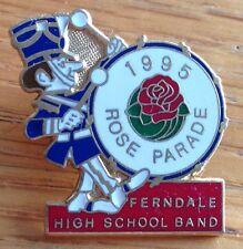 1995 Rose Parade Ferndale High School Band Pin Badge Rare Original (D2)
