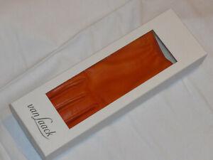 Van Laack Damenhandschuhe Leder/Kaschmir orangefarben Gr. M