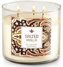 1 Bath & Body Works SALTED VANILLA Large Scented 3-Wick Candle 14.5 oz