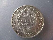BOLIVIA 50 CENTAVOS - 1/2 BOLIVIANO 1902