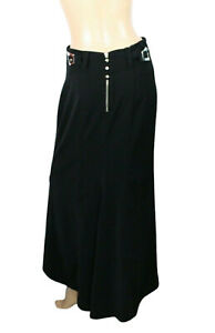 Montana Blu Women's Black Stretch Maxi Skirt Size 42 Italy (size Small)