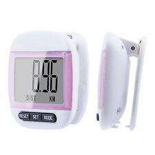 LCD Digital Step Pedometer Walking Calorie Counter Distance Walk Run Belt Clip