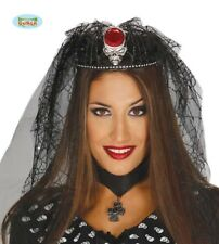 Halloween Bride Skull Tiara With Stone And Veil