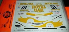 SLIXX DECALS 1071 ROYAL OAK SCCA CAMARO #01 SCOTT PRUETT RACE CAR 1/25