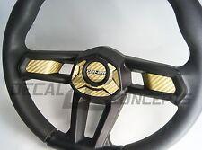Can-Am Maverick X3 GOLD Carbon Fiber Steering Wheel Dress Up DecaI Inlay Kit