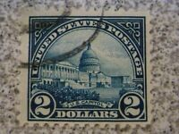 USED $2 Dollar Capitol #572 Blue USA STAMP
