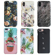 For iPhone Flower Pineapple Moon Pattrned PC Heavy Duty Hard Back Case Cover