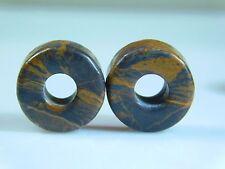 2 Pcs Beautiful Natural Jasper Wheel Shape European Large Hole Beads 8x14mm