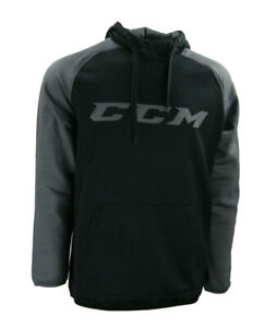CCM Hockey Senior/Adult Black/Dark Grey TECH HOODY Size S