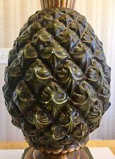 Large Vintage Ceramic Pineapple Table Lamp Mid Century Modern