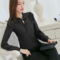 Blouse Top Summer Chiffon Long Sleeve Ladies Shirt Women T-Shirt Loose Fashion