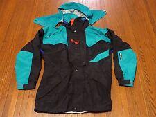 Men's VTG 90's Helly Hansen Equipe Black Teal Purple Red Ski  Parka Jacket sz M