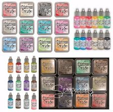 Ranger Tim Holtz DISTRESS OXIDE Ink Pads & Reinkers- ALL 24 Colors Set IN STOCK