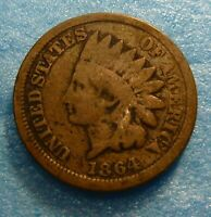 1864  CN Indian Head Penny Cent  Coin  #I64-1