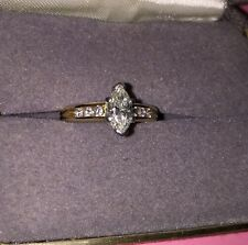 .73 Marquis Diamond Engagement Ring With 14k Setting Paid $2600 SAVE$$$