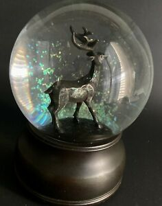 Vintage Birchwood Lane Stately Deer Musical Water Globe, Plays Christmas Melody
