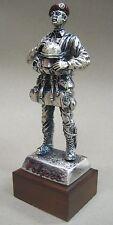 Statuetta metallo PARACADUTISTA FOLGORE - EQUIPAGGIAMENTO LANCIO ANNI 1970/1980