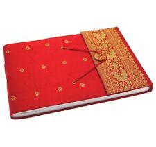 Fair Trade Handmade Medium Sari Photo Album Red