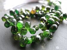 """60cts HAND FACETED COLOURPOINT GREEN TOURMALINE BRIOLETTES, approx 4x6.5mm, 9.5"""""""