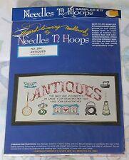 Vintage Needles N Hoops Cross Stitch Sampler Kit Sealed Stamped Antiques Embroid